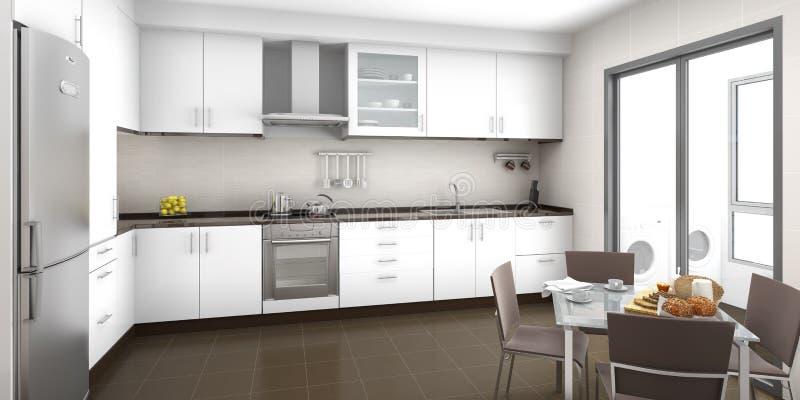 Kücheinnenraum stock abbildung