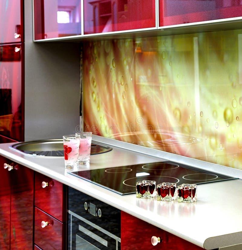 Kücheinnenraum lizenzfreie stockbilder