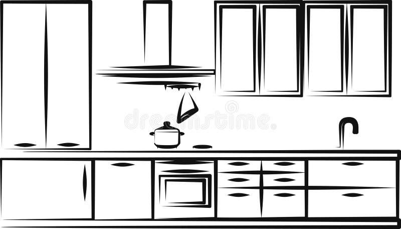 Küchemöbel stock abbildung