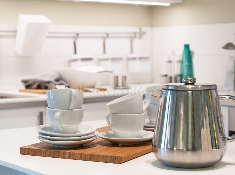 Küchenarbeitsplattedetail stockfoto