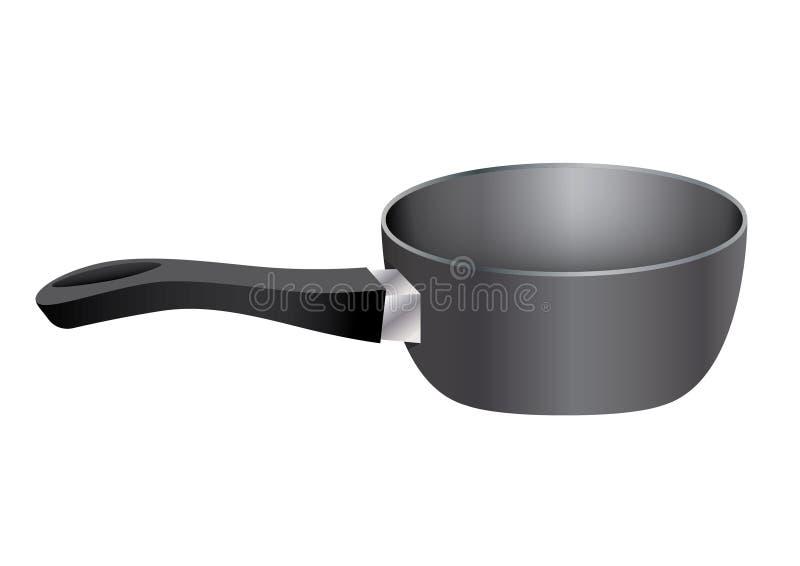 Küchenausrüstungstopf stock abbildung