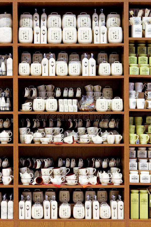 Küchenbedarfporzellan lizenzfreie stockfotos