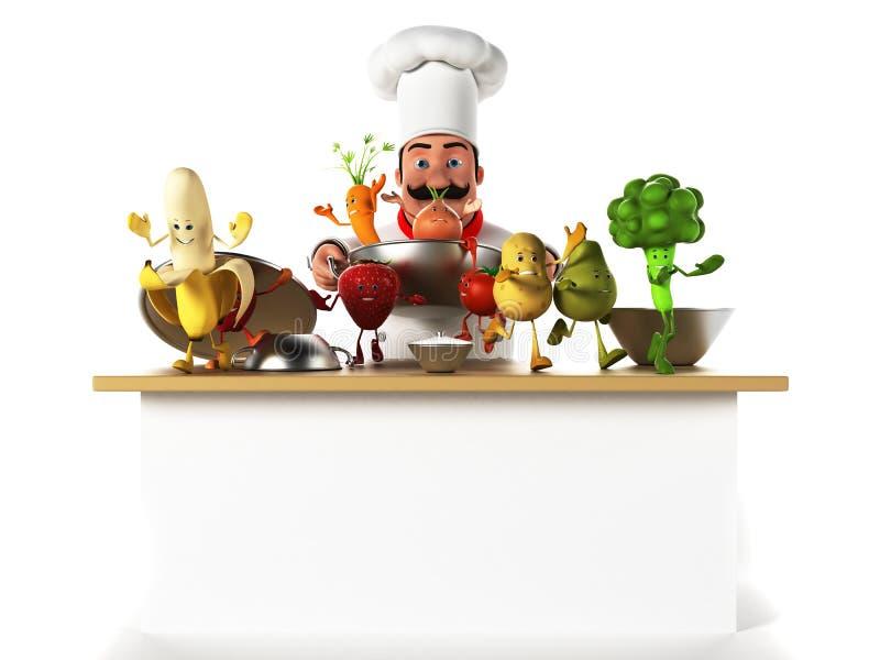 Küchenchef lizenzfreie abbildung