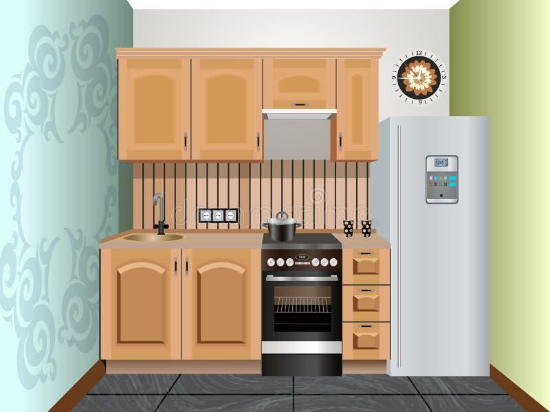 Küchendesign lizenzfreie abbildung