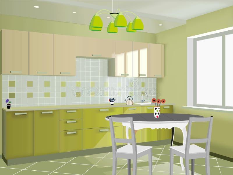 Küchendesign vektor abbildung