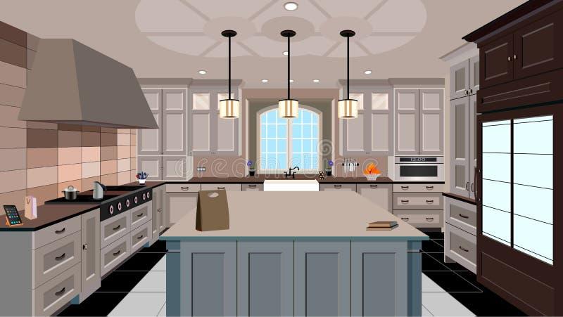 Küchendesign stock abbildung