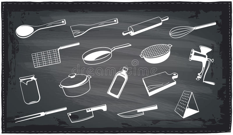 Küchengerät-Tafeldesign lizenzfreie abbildung