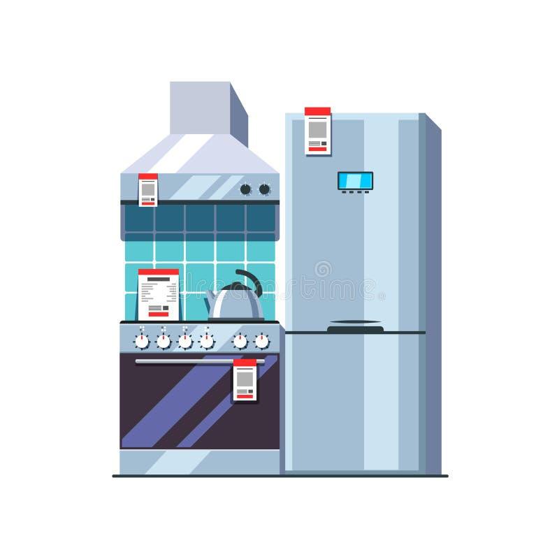 Küchengerätspeicher Einzelhandelkonzept vektor abbildung