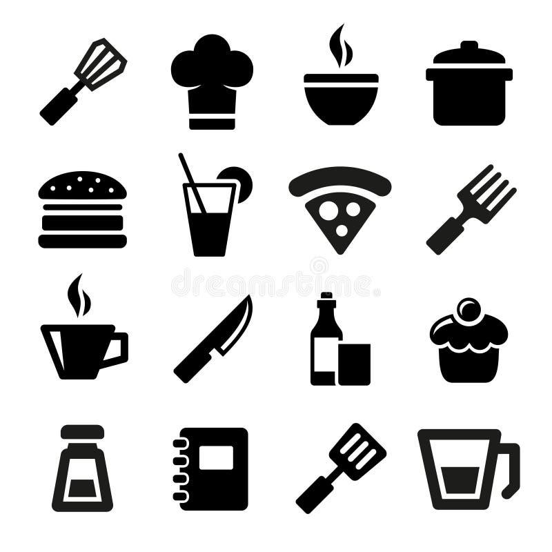 Küchenikonen lizenzfreie abbildung