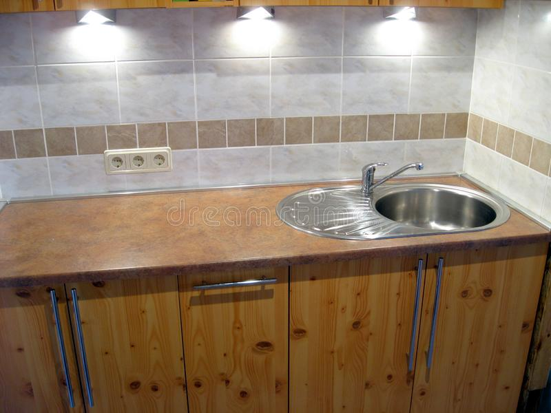 Kücheninnenraum stockfoto