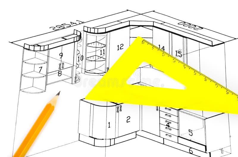 Küchenplan küchenplan stockfoto bild hintergrund feder verbesserung