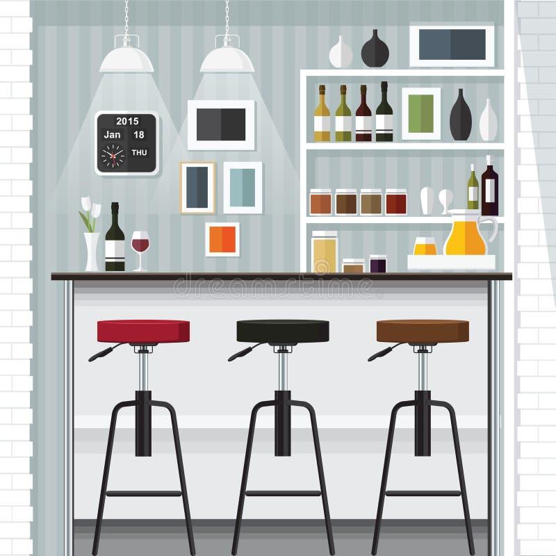Küchenstange küchenstange vektor abbildung illustration flasche 66455809