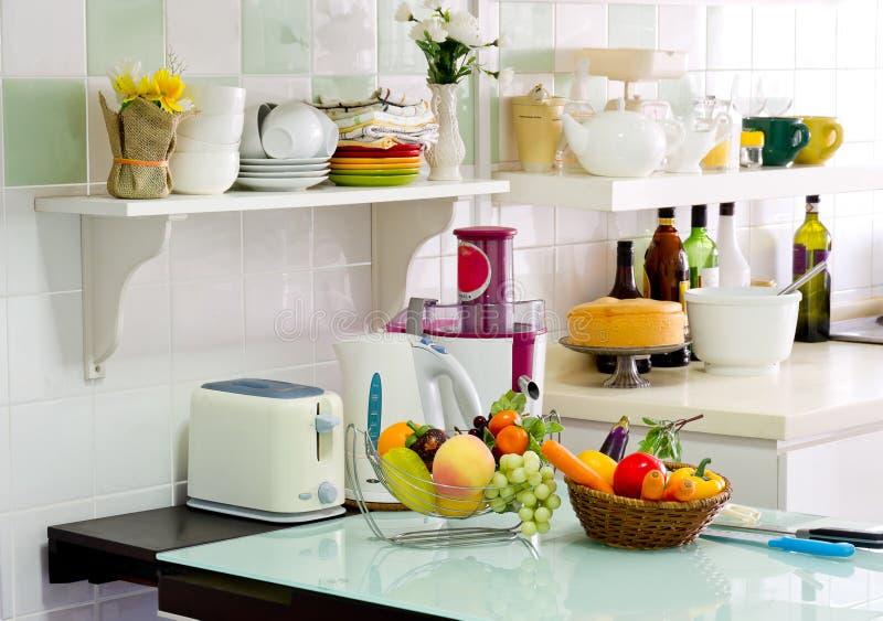 Küchentisch stockfotografie