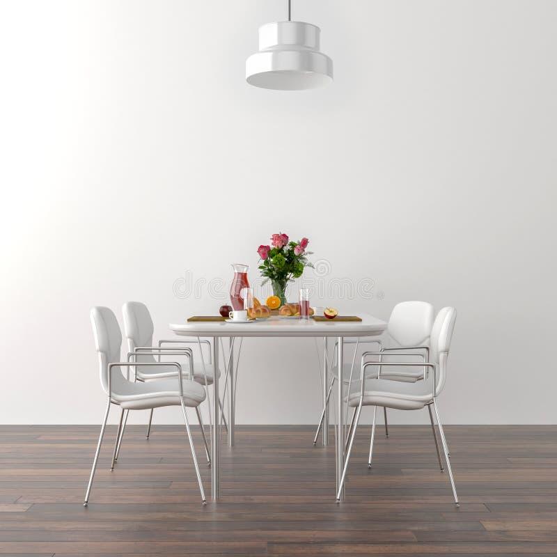 Küchentisch und Stühle stock abbildung. Illustration von ...