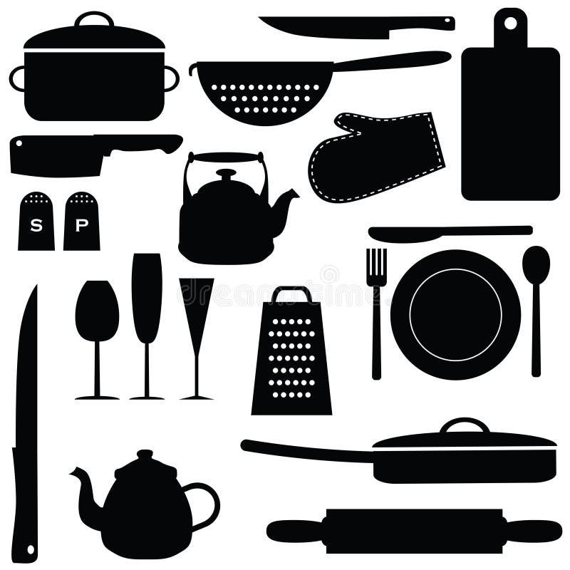 Küchenwerkzeuge lizenzfreie abbildung
