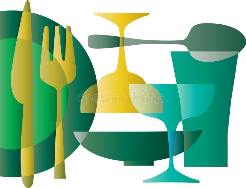 Küchetapetenmuster - 1 stock abbildung