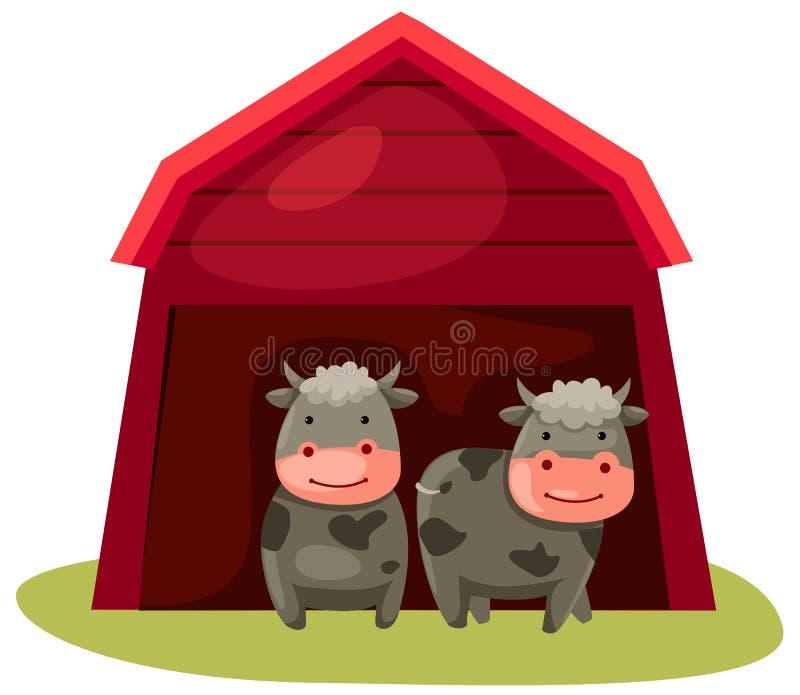 Kühe lizenzfreie abbildung
