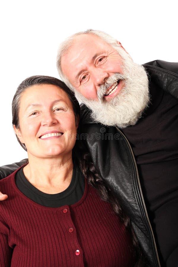 Kühle ältere Paare lizenzfreie stockbilder