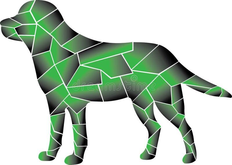 Kühle Kombination von zwei Farben Hund vektor abbildung