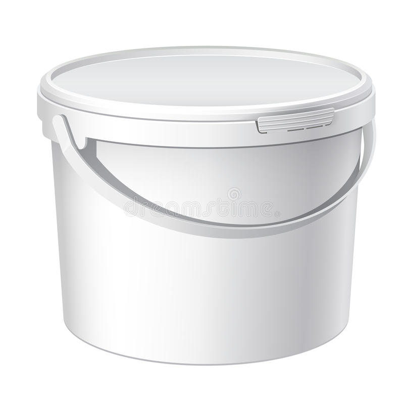 Kühle realistische weiße Plastikwanne. Vektor vektor abbildung