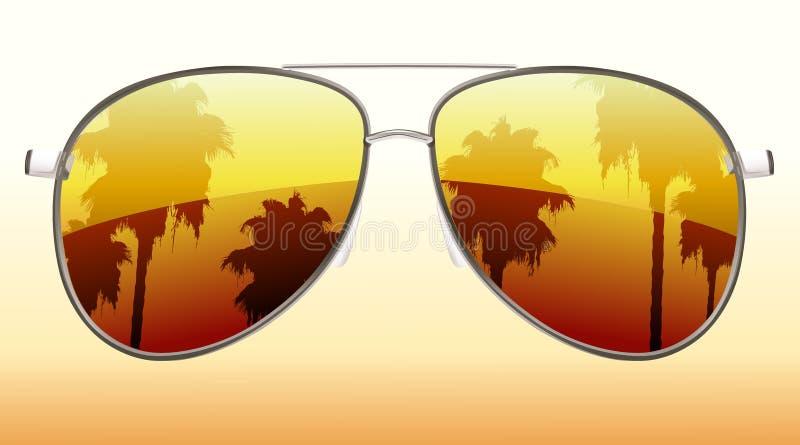 Kühle Sonnenbrillen lizenzfreie abbildung