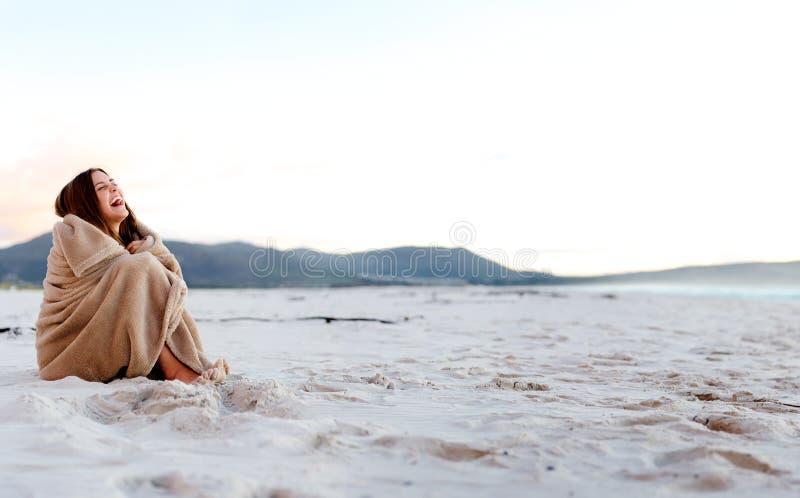 Kühle Stranddecke lizenzfreies stockbild