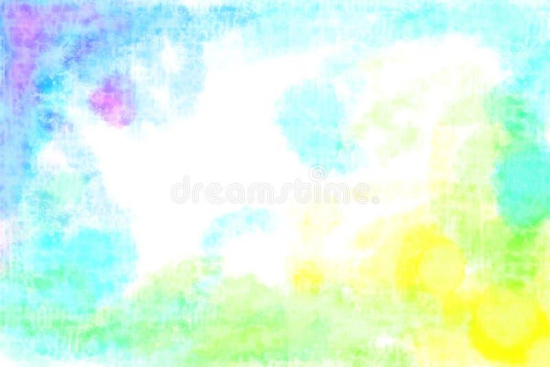 Kühle Tone Spectrum Watercolour Texture Background lizenzfreies stockbild