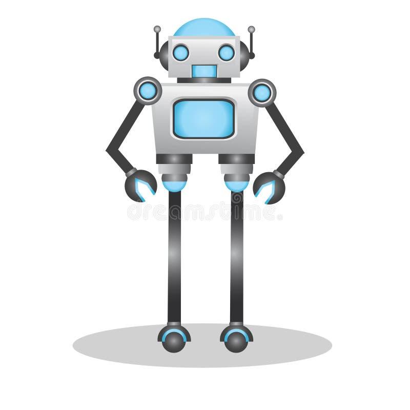 Kühle und nette Illustration des Roboters 3d stockbilder