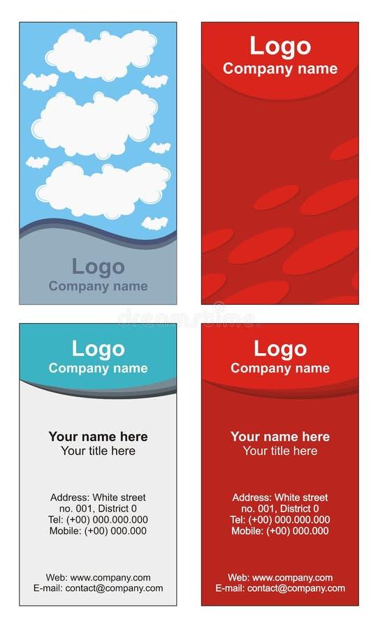 Kühle Visitenkarteschablonen lizenzfreie abbildung