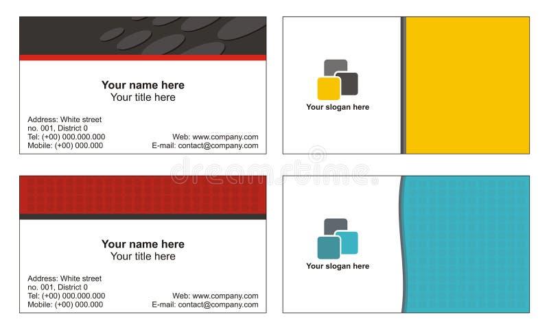 Kühle Visitenkarteschablonen stock abbildung
