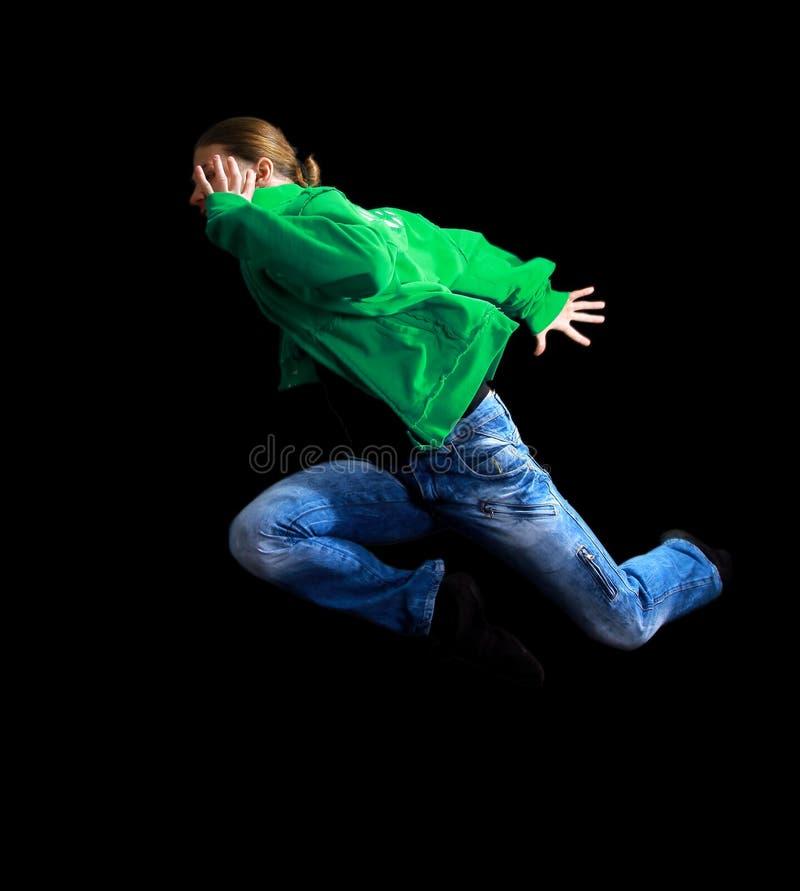 Kühlen Sie das Schauen der Tänzeraufstellung ab stockfotos
