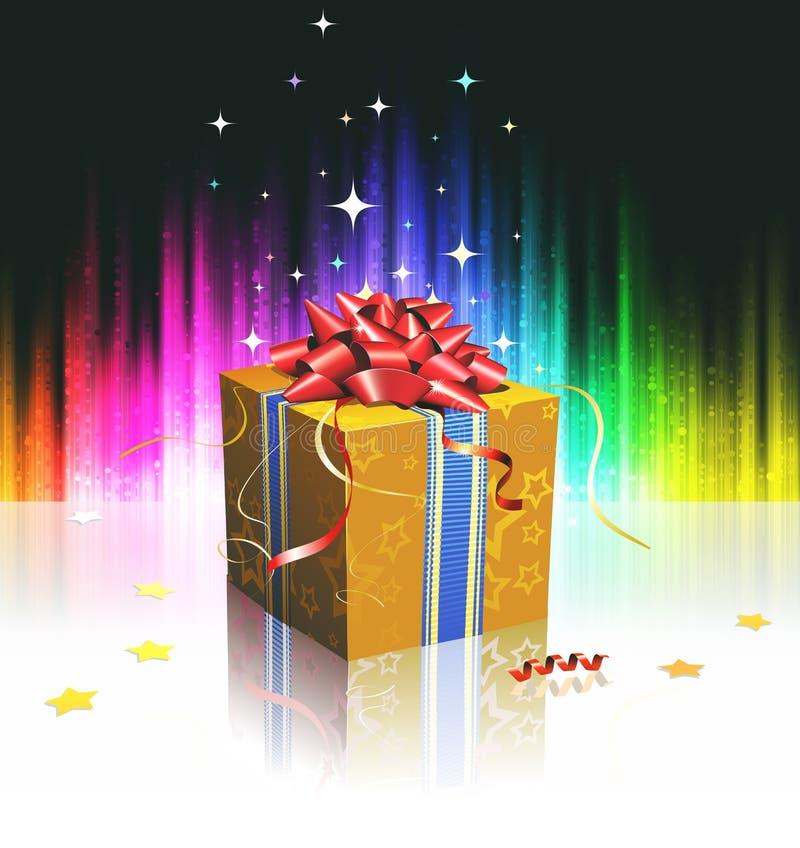 Kühlen Sie Geschenkkasten ab stock abbildung