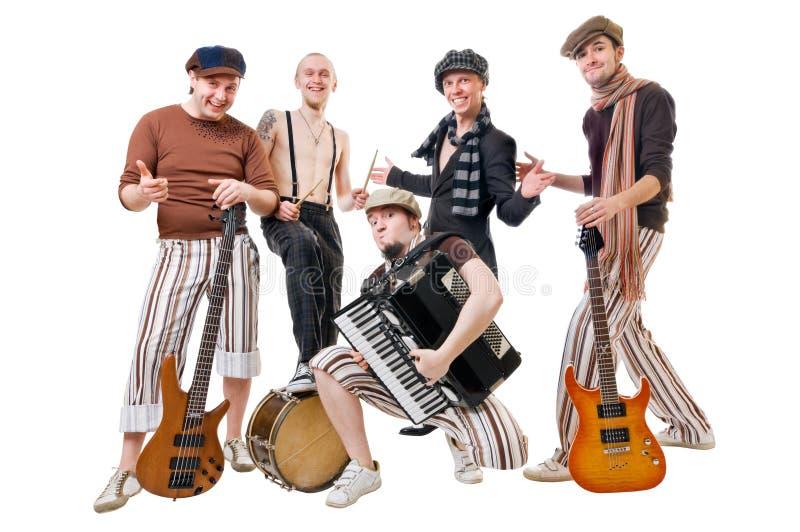 Kühlen Sie Musiker ab lizenzfreies stockfoto