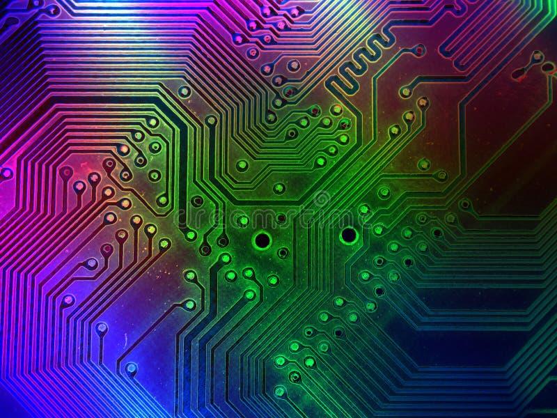 Kühler Computer zerteilt Hintergrund stock abbildung