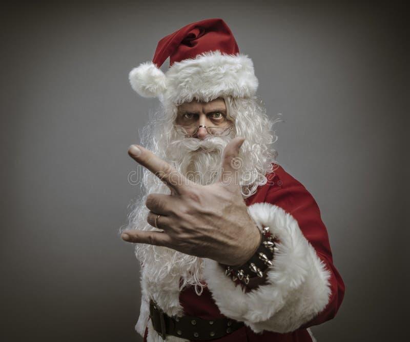 Kühler Felsen Santa Claus lizenzfreies stockbild