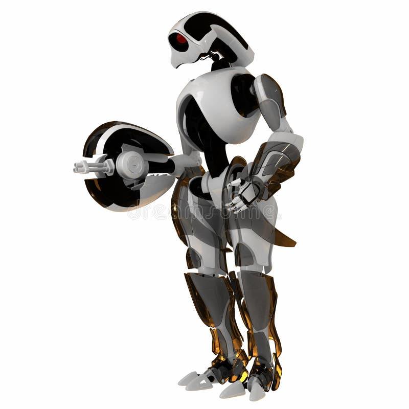Kühler futuristischer Krieger vektor abbildung