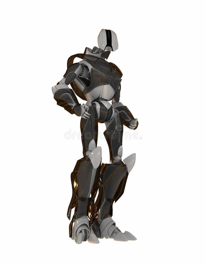 Kühler futuristischer Roboter vektor abbildung