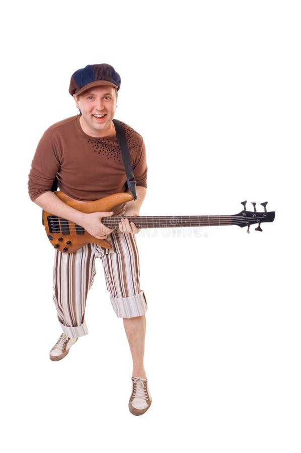 Kühler Gitarrist lizenzfreies stockfoto