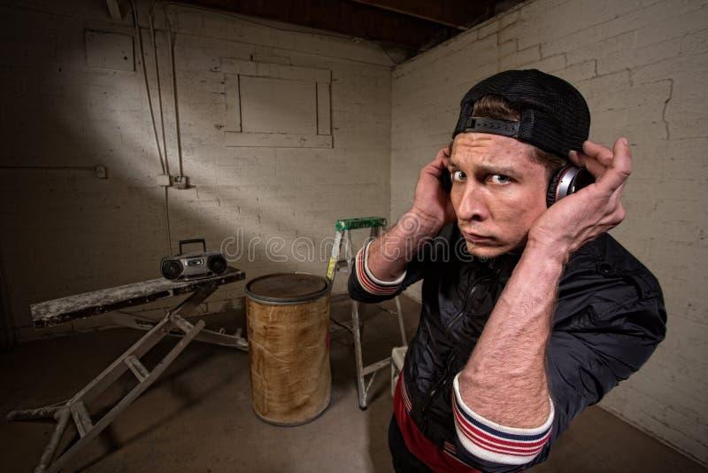 Kühler Hip Hop-Künstler stockbild