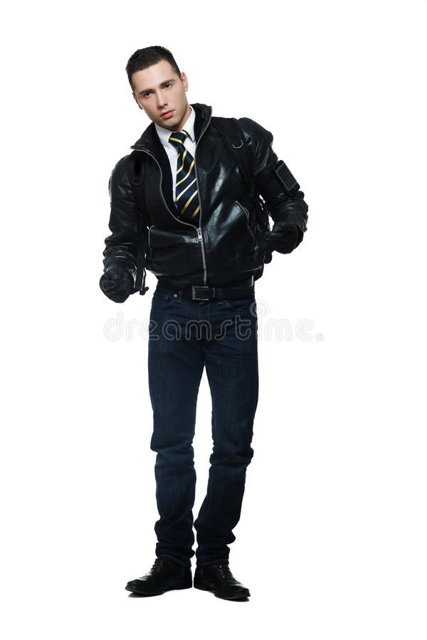 Kühler junger Mann lizenzfreies stockbild