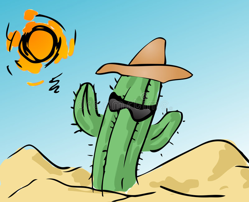 Kühler Kaktus vektor abbildung