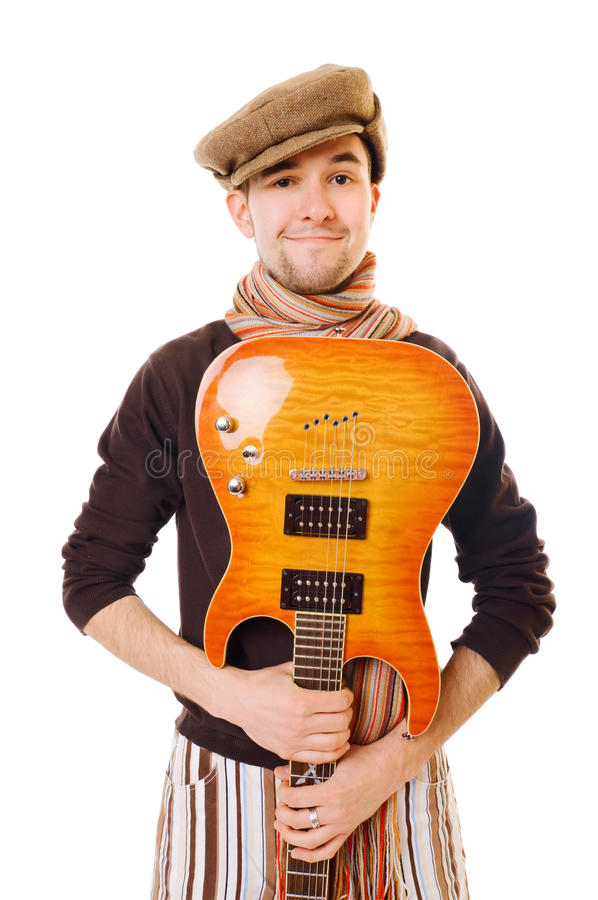 Kühler Musiker lizenzfreies stockfoto
