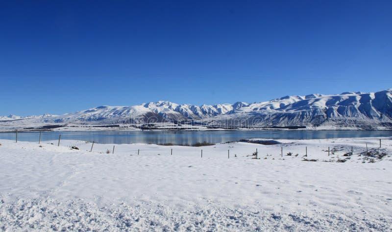 Kühler See stockfoto