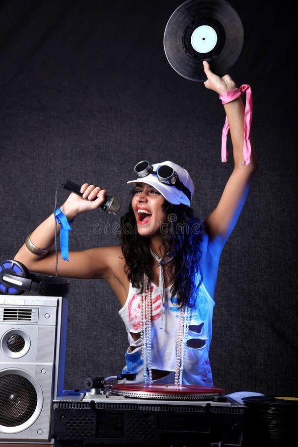 Kühles DJ in der Tätigkeit lizenzfreie stockfotografie