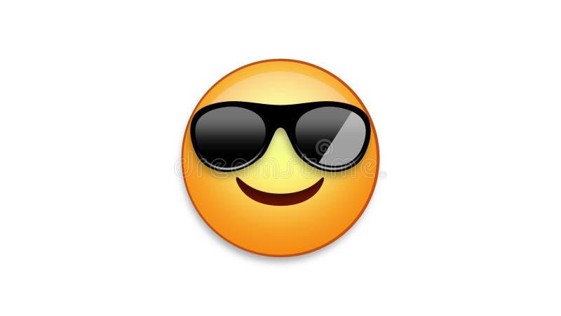 Kühles Emoji mit Luma-Lech stock abbildung