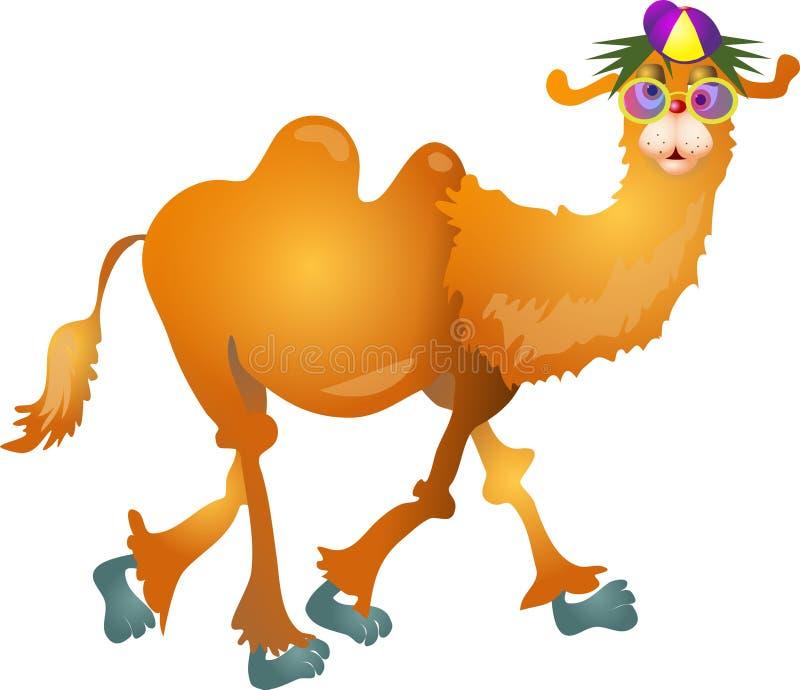 Kühles Kamel stock abbildung