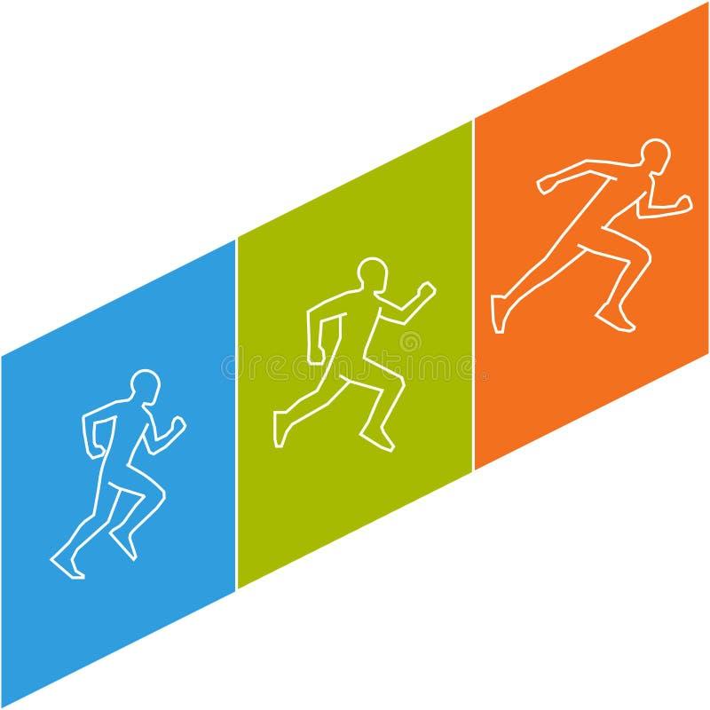 Kühles Marathonsymbol stock abbildung