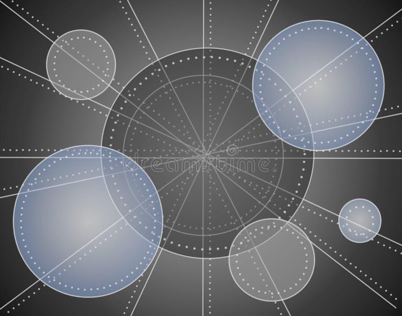 Kühles metallisches Kreis-Muster lizenzfreie abbildung