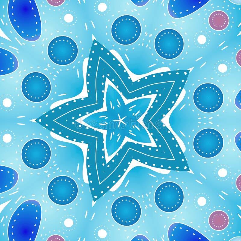 Blaue Bunte Sternchen-Vereinbarung Stock Abbildung