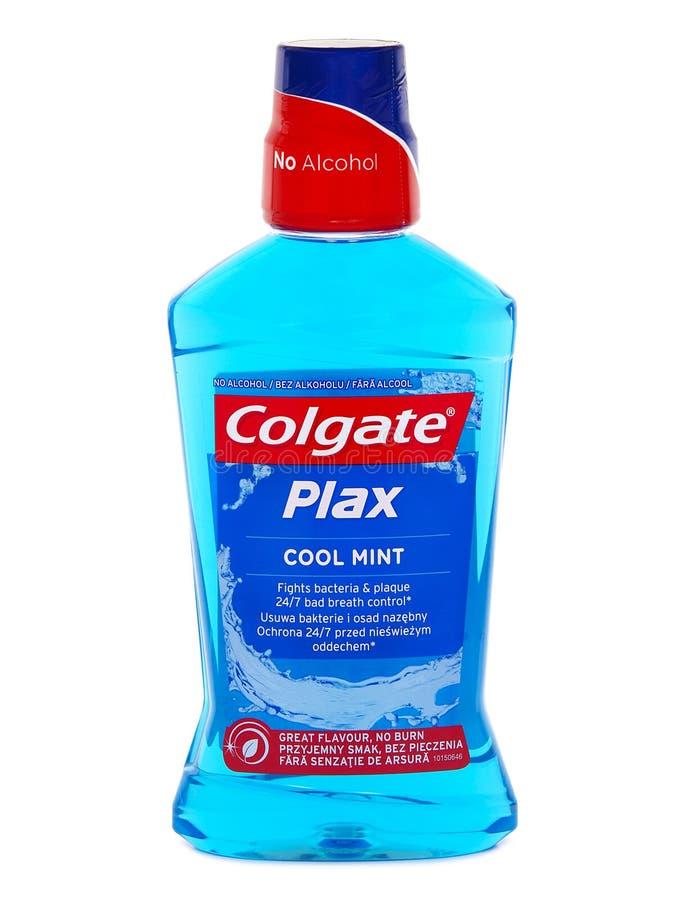 Kühles tadelloses Mundwasser Colgates Plax lizenzfreies stockbild